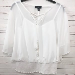I.N. San Francisco Angel Wing White Top Size S